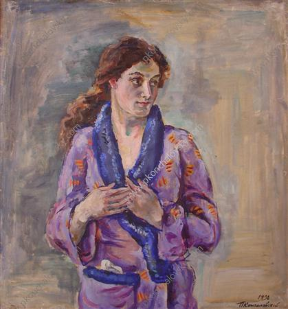 Portrait of Arfenik Artemevna Tadeo, 1930 by Pyotr Konchalovsky (1876-1956, Russia)