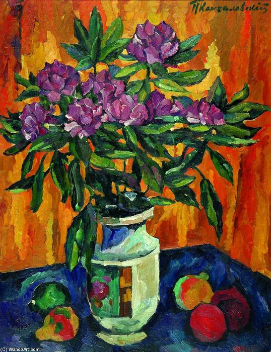 Still Life with Peonies in a Vase, 1912 by Pyotr Konchalovsky (1876-1956, Russia) | Museum Quality Reproductions | WahooArt.com