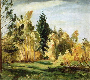 Pyotr Konchalovsky - A ray of sunlight. The forest.