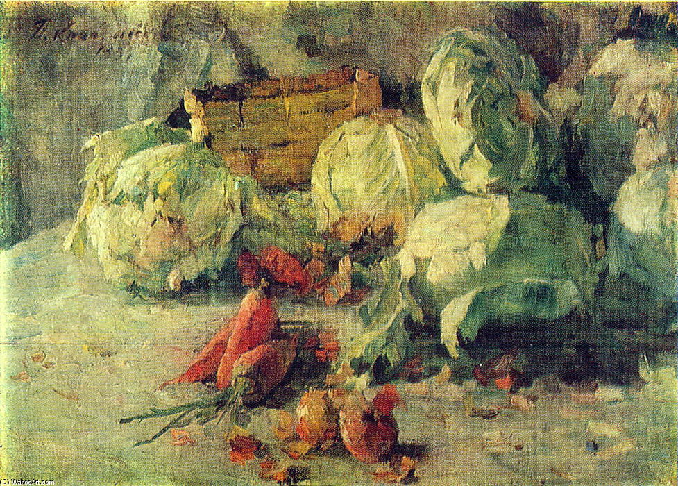 Order Painting Copy : Still Life with Cabbage, 1937 by Pyotr Konchalovsky (1876-1956, Russia) | WahooArt.com