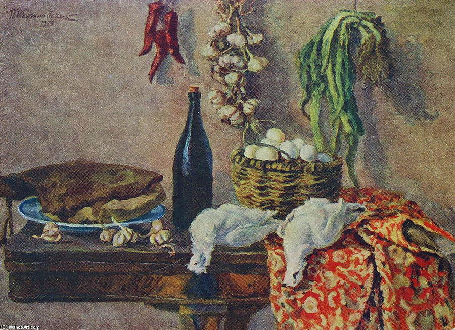 Still Life. White partridge., 1953 by Pyotr Konchalovsky (1876-1956, Russia)