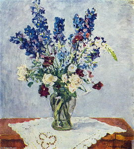 Pyotr Konchalovsky - Delphinium and Rose