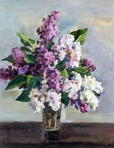 Still Life with Lilac by Pyotr Konchalovsky (1876-1956, Russia)