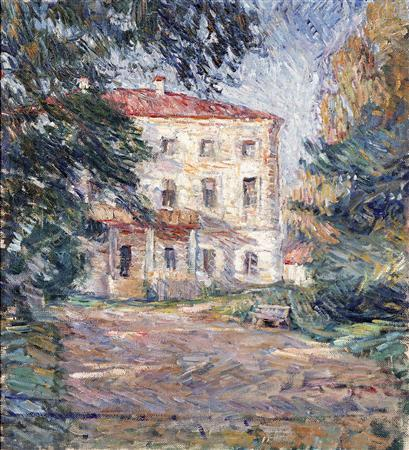 A house in Belkino, 1907 by Pyotr Konchalovsky (1876-1956, Russia)