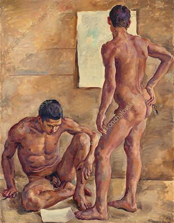 Students in the studio (nude), 1933 by Pyotr Konchalovsky (1876-1956, Russia)