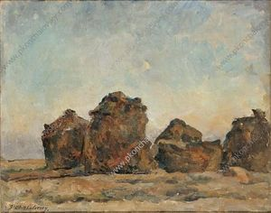 Pyotr Konchalovsky - Haystacks in the evening