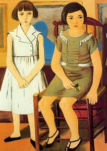 Rafael Zabaleta Fuentes - Portrait of two girls