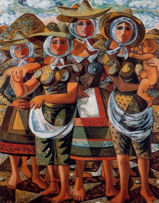 Gleaners by Rafael Zabaleta Fuentes (1907-1960, Spain) | Museum Quality Reproductions | WahooArt.com