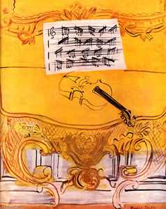 Raoul Dufy - The Yellow Console with a Violin