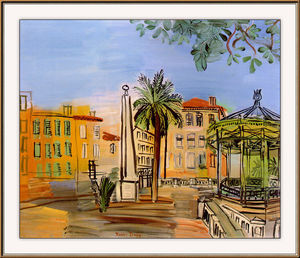 Raoul Dufy - The square in Hyeres
