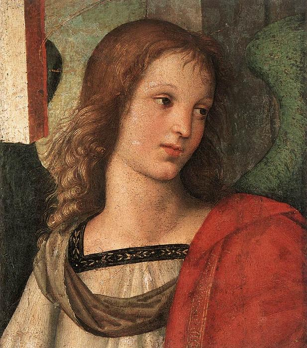 Angel (fragment of the Baronci altarpiece), Oil On Canvas by Raphael (Raffaello Sanzio Da Urbino) (1483-1520, Italy)