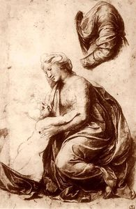Raphael (Raffaello Sanzio Da Urbino) - Study for the Holy Family