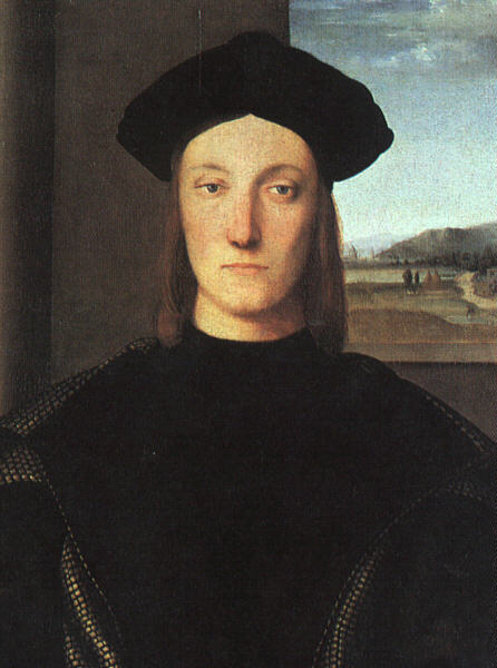 Portrait of Guidobaldo da Montefeltro, Duke of Urbino, Oil On Panel by Raphael (Raffaello Sanzio Da Urbino) (1483-1520, Italy)