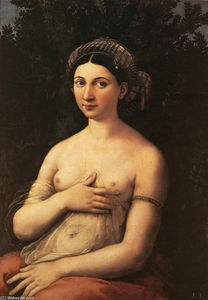 Raphael (Raffaello Sanzio Da Urbino) - The Portrait of a Young Woman (La fornarina)