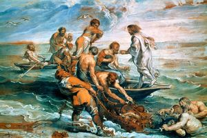 Raphael (Raffaello Sanzio Da Urbino) - Miraculous Draught of Fishes