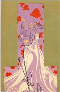 Raphael Kirchner - Girls with olive green surrounds