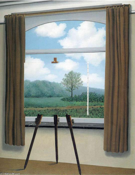 The human condition, Oil On Canvas by Rene Magritte (1898-1967, Belgium)