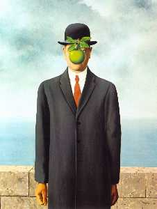 The Son of Man, Oil On Canvas by Rene Magritte  (order Fine Art fine art print Rene Magritte)