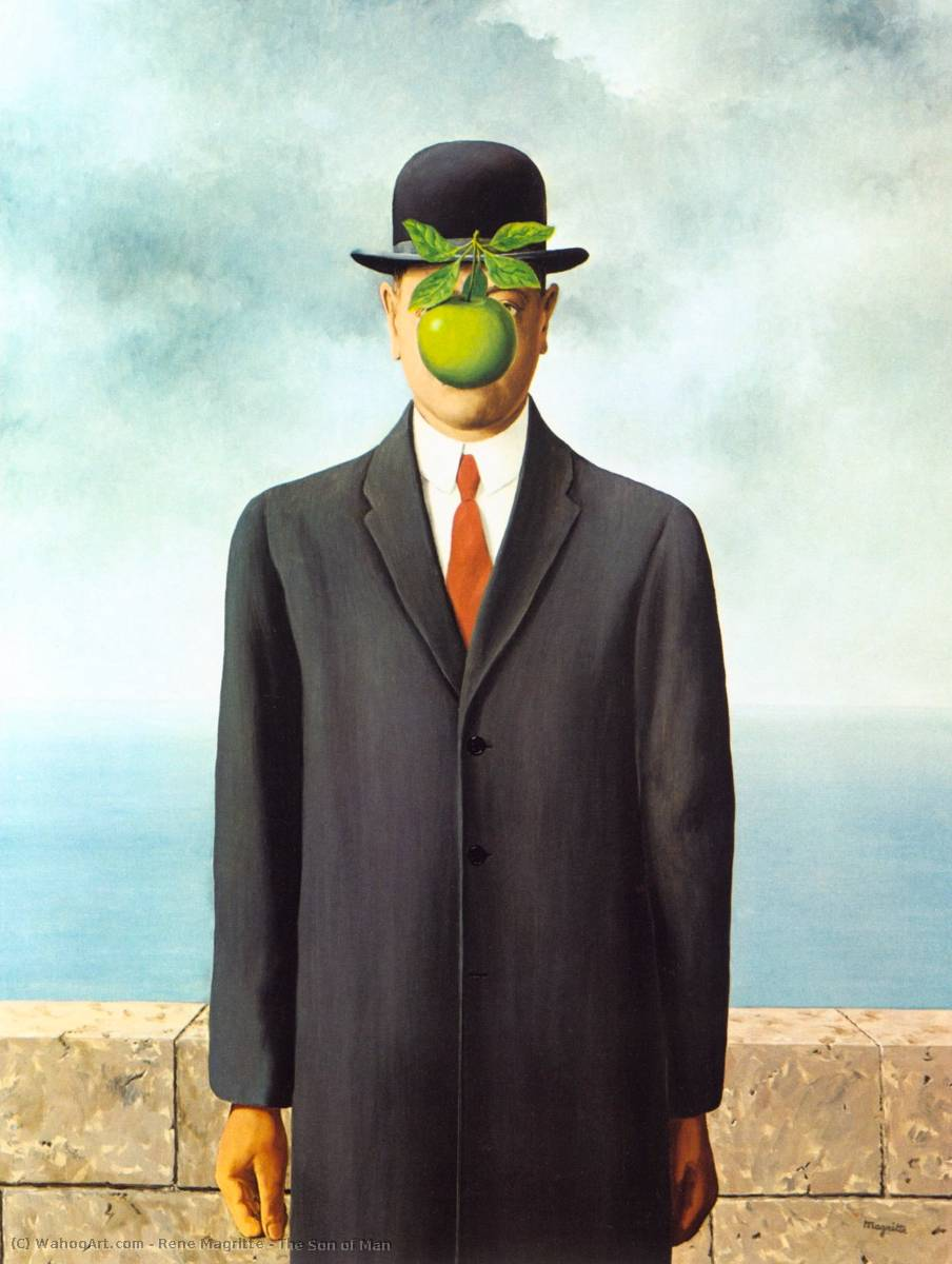 The Son of Man, 1964 by Rene Magritte (1898-1967, Belgium) |  | WahooArt.com