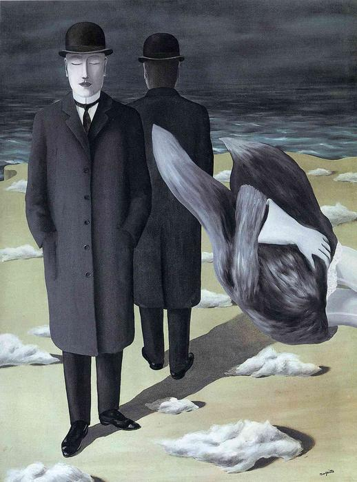 The meaning of night, 1927 by Rene Magritte (1898-1967, Belgium) | Oil Painting | WahooArt.com