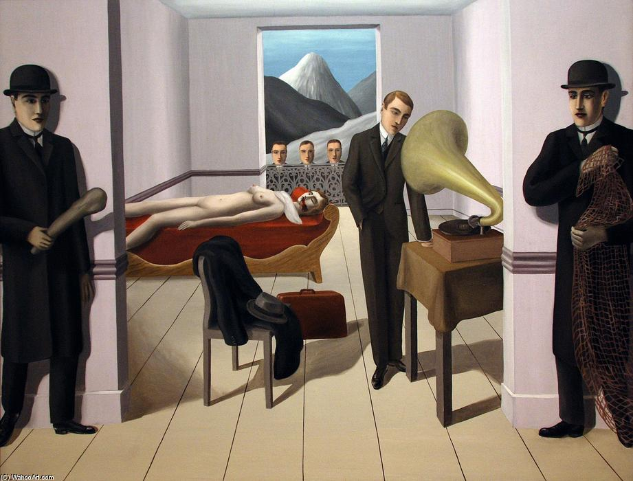 Order Famous Paintings Reproductions : The Menaced Assassin, 1927 by Rene Magritte (1898-1967, Belgium) | WahooArt.com