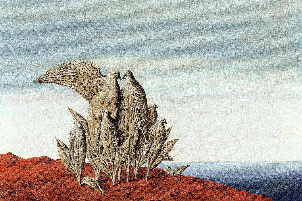 Island of Treasures, 1942 by Rene Magritte (1898-1967, Belgium) | Famous Paintings Reproductions | WahooArt.com