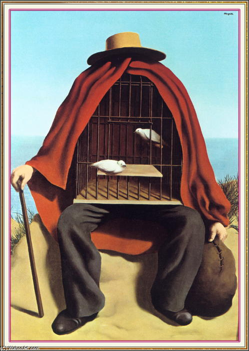 The therapeutist, Oil On Canvas by Rene Magritte (1898-1967, Belgium)