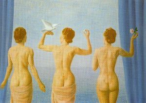Rene Magritte - The break in the clouds (The calm)