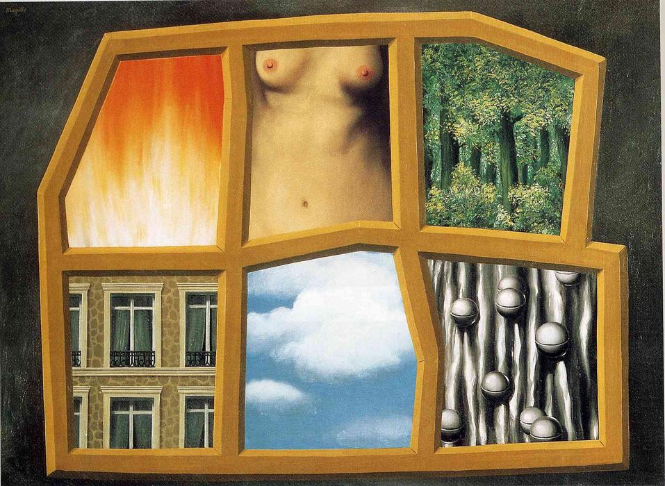 The six elements, 1928 by Rene Magritte (1898-1967, Belgium)
