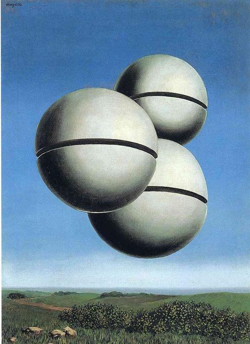 The voice of space, Oil On Canvas by Rene Magritte (1898-1967, Belgium)