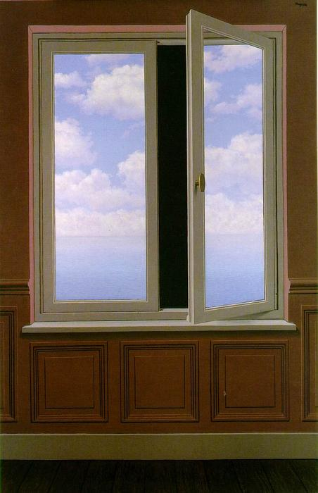 The looking glass, Oil On Canvas by Rene Magritte (1898-1967, Belgium)