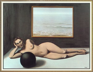Rene Magritte - Bather between Light and Darkness