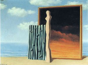 Rene Magritte - Composition on a seashore