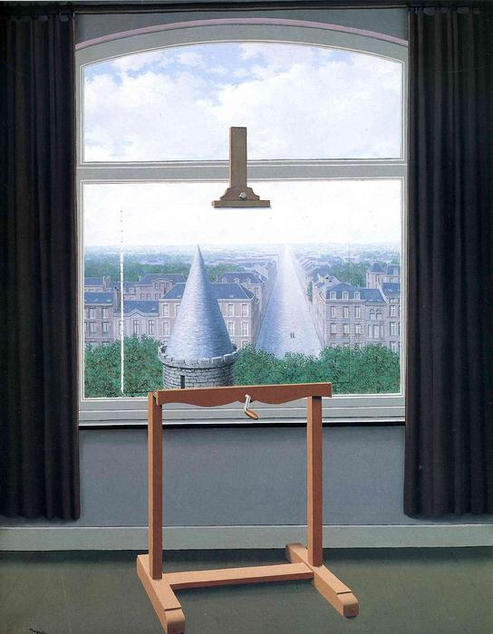 Where Euclide walked, Oil On Canvas by Rene Magritte (1898-1967, Belgium)