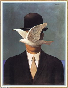 Rene Magritte - Man in a Bowler Hat
