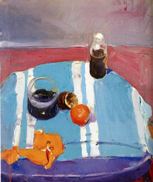 Still Life with Orange Peel by Richard Diebenkorn (1922-1993, United States) |  | WahooArt.com