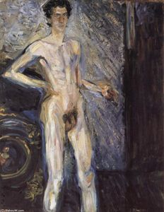 Richard Gerstl - Self Portrait (Nude in a full figure)