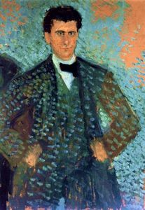 Richard Gerstl - Self-portrait with Blue Spotted Background