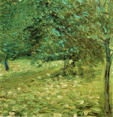 Order Paintings Reproductions | Orchard, 1907 by Richard Gerstl (1883-1908, Austria) | WahooArt.com
