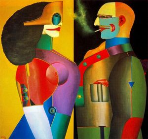 Richard Lindner - The Couple