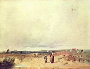Richard Parkes Bonington - Scene in Normandy