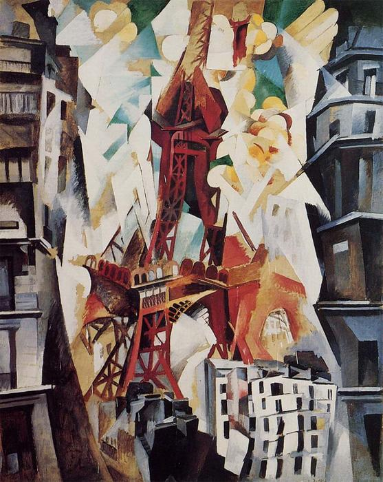Eiffel Tower, 1914 by Robert Delaunay (1885-1941, France) | Paintings Reproductions Robert Delaunay | WahooArt.com