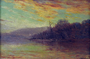 Robert Julian Onderdonk - Autumn Sunset