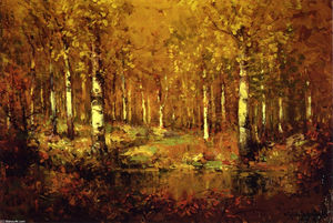 Robert Julian Onderdonk - Autumn Birches, Central Park