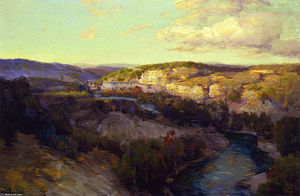 Robert Julian Onderdonk - Cliffs on the Guadalupe
