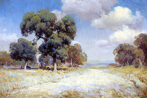 Robert Julian Onderdonk - Landscape with Wagon