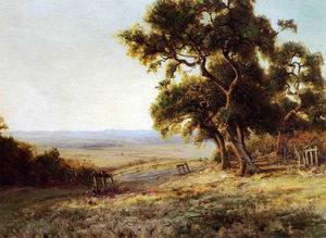 Robert Julian Onderdonk - Late Afternoon, Valley of the Leon