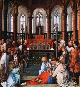 Rogier Van Der Weyden - Exhumation of Saint Hubert