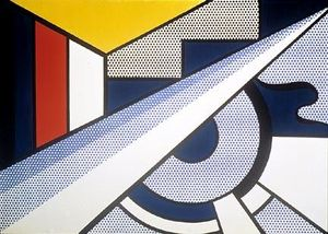 Roy Lichtenstein - Modern painting with wedge