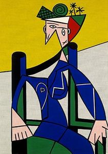 Roy Lichtenstein - Woman in a wheelchair